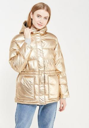 Куртка утепленная Gap. Цвет: золотой