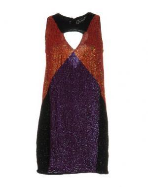 Короткое платье PINKO. Цвет: фиолетовый