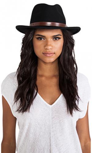 Шляпа федора messer Brixton. Цвет: черный