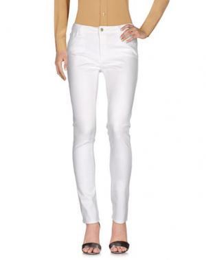 Повседневные брюки TRUSSARDI JEANS. Цвет: белый