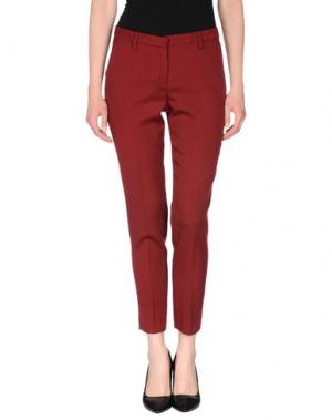 Повседневные брюки TRUE ROYAL. Цвет: красно-коричневый