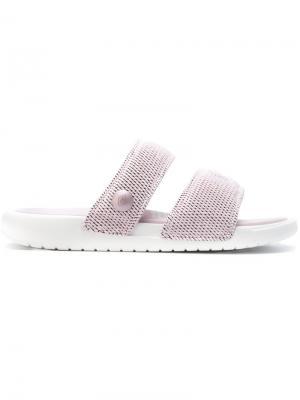 Шлепанцы Lab x Pigalle Benassi Duo Ultra Nike. Цвет: розовый и фиолетовый