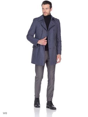 Пальто Berkytt. Цвет: серо-голубой