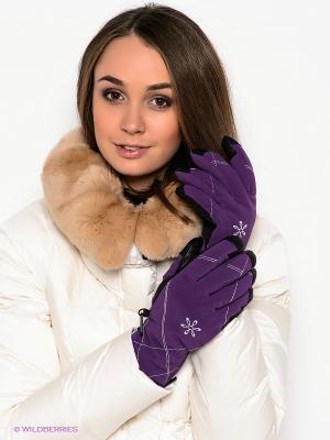 Перчатки Viking caps&gloves. Цвет: фиолетовый
