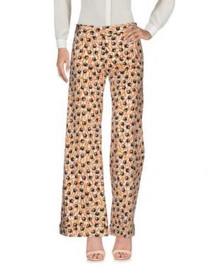 Повседневные брюки SIYU. Цвет: ржаво-коричневый
