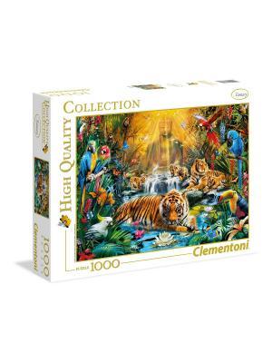 Итальянский пазл Clementoni. Серия High Quality. Мистически тигры. 1000 элементов. Clementoni. Цвет: рыжий, белый, желтый