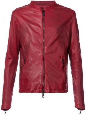 Байкерская куртка Giorgio Brato. Цвет: красный