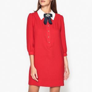 Платье прямое однотонное PILLOW ESSENTIEL ANTWERP. Цвет: красный