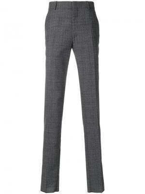 Классические брюки Alexander McQueen. Цвет: серый