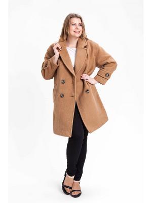 Пальто SUCCESS. Цвет: коричневый, бежевый