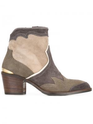 Ботинки Freddy Flame Nubikk. Цвет: коричневый