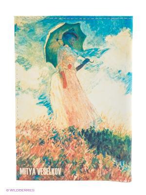Обложка для паспорта Клод Моне - Дама с зонтиком Mitya Veselkov. Цвет: желтый