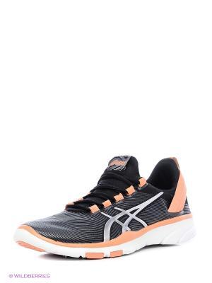 Кроссовки GEL-FIT SANA 2 ASICS. Цвет: черный, оранжевый, серый