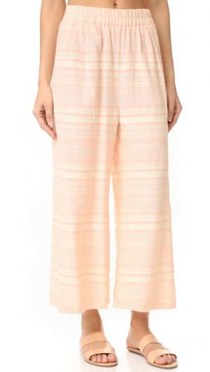 Пляжные брюки в полоску Mara Hoffman. Цвет: розовый