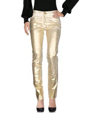 Повседневные брюки GAI MATTIOLO JEANS. Цвет: золотистый