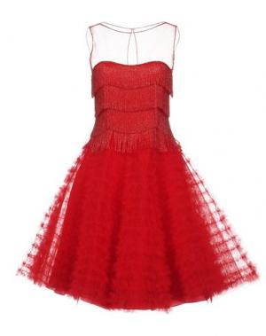 Платье до колена NAEEM KHAN. Цвет: красный