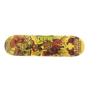 Дека для скейтборда  S6 Gravette Circus Of Damned 31.7 x 8.26 (21 см) Creature. Цвет: оранжевый,желтый,черный