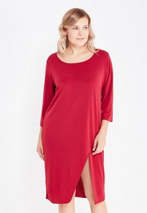 Платье Over. Цвет: бордовый