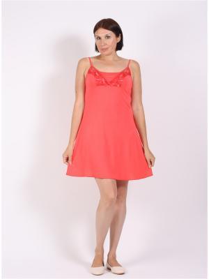 Ночная сорочка COTTONLAB. Цвет: коралловый