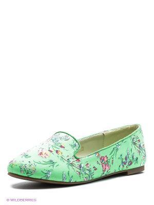Туфли STESSO. Цвет: светло-зеленый