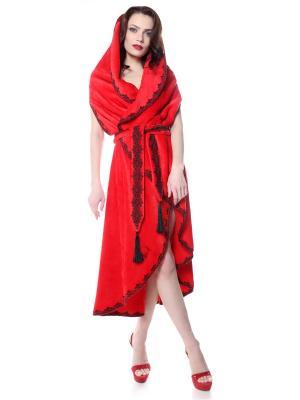 Халат безразмерный SEANNA. Цвет: красный