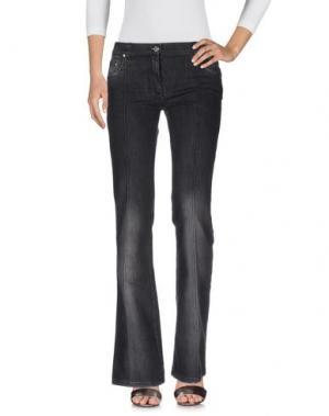 Джинсовые брюки ROCCOBAROCCO. Цвет: черный