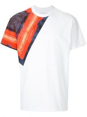 Shibori bandana print T-shirt Yoshiokubo. Цвет: белый