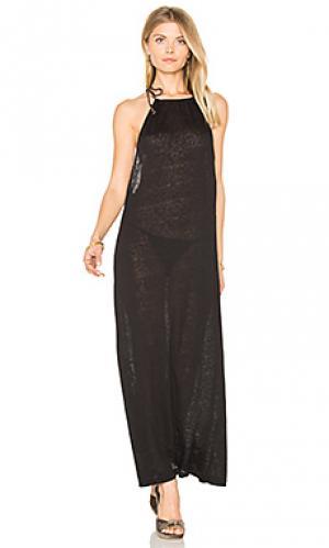 Платье с открытой спиной inca Pitusa. Цвет: черный