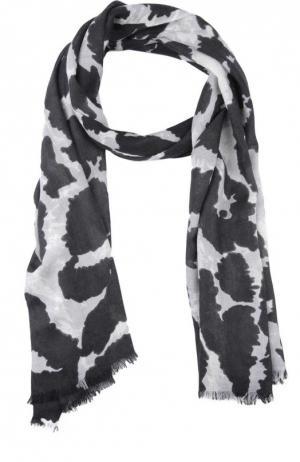 Кашемировый шарф Vault Kenley с принтом Diane Von Furstenberg. Цвет: черно-белый
