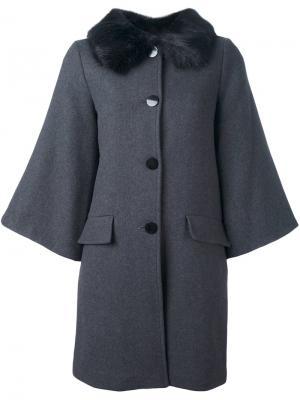 Пальто с расклешенными рукавами Steffen Schraut. Цвет: серый