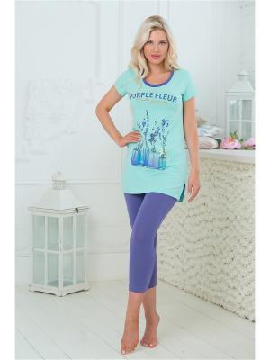 Комплект одежды Mia Cara. Цвет: бирюзовый, фиолетовый