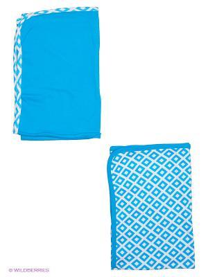 Комплект пелёнки трикотажные Yoga Sprout. Цвет: голубой