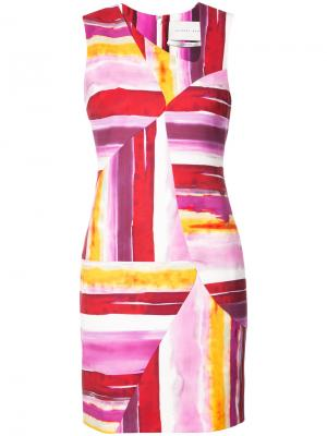 Платье Alexander Jeffrey Dodd. Цвет: розовый и фиолетовый