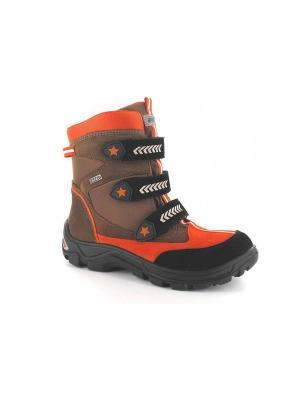 Ботинки Bartek. Цвет: оранжевый,черный,коричневый