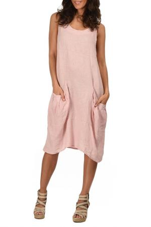 Платье Lin nature. Цвет: розовый
