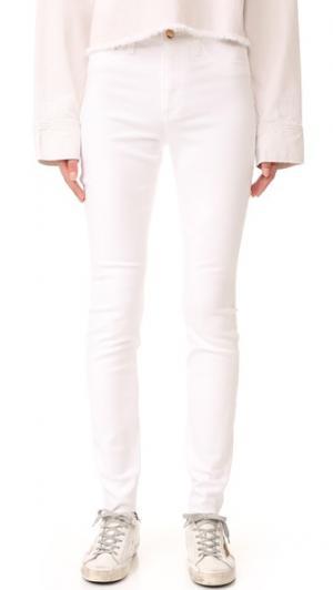 Джинсы-скинни Charlie с высокой посадкой Joe's Jeans. Цвет: оптический белый