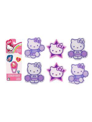 Набор из 7 предметов:  микрофонарик Hello Kitty и 6 наклеек в ассортименте.. Цвет: фиолетовый, белый, розовый