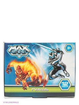 Гуашь Max Steel, 12 цветов Centrum. Цвет: голубой