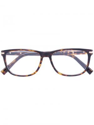 Очки в прямоугольной оправе Ermenegildo Zegna. Цвет: коричневый