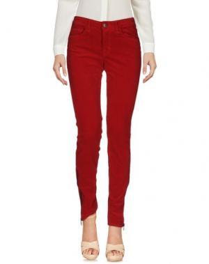 Повседневные брюки J BRAND. Цвет: красный