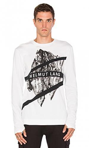 Рубашка с круглым вырезом и длинным рукавом Helmut Lang. Цвет: белый