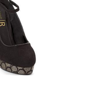 Туфли на платформе с жаккардовым рисунком MADEMOISELLE R. Цвет: черный