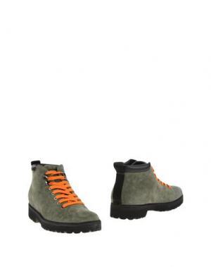 Полусапоги и высокие ботинки PÀNCHIC. Цвет: зеленый