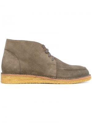 Ботинки на шнуровке Tomas Maier. Цвет: серый