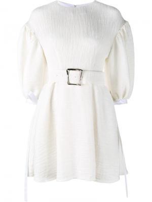 Мини-платье Vivian Rejina Pyo. Цвет: белый