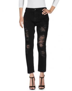 Джинсовые брюки MARCO BOLOGNA. Цвет: черный