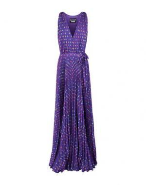 Длинное платье BOUTIQUE MOSCHINO. Цвет: фиолетовый