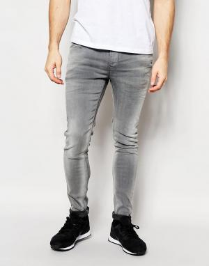 Pepe Heritage Эластичные выбеленные джинсы скинни Jeans Finsbury. Цвет: синий