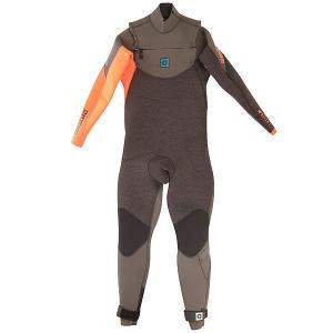 Гидрокостюм (Комбинезон)  Crossfire 5/3 D/L Fullsuit Frontzip Coral Mystic. Цвет: черный,оранжевый