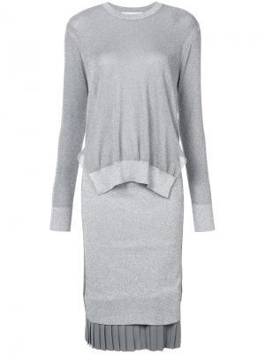 Платье-свитер с блестками Toga. Цвет: металлический